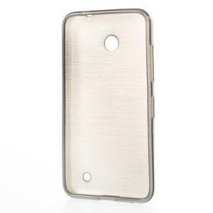 Gelové Kartáčové pouzdro na Nokia Lumia 630- šedé - 3