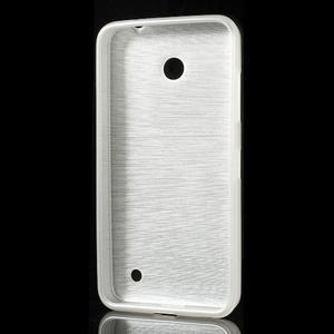 Gelové Kartáčové pouzdro na Nokia Lumia 630- bílé - 3