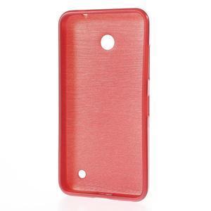 Gelové Kartáčové pouzdro na Nokia Lumia 630- červené - 3