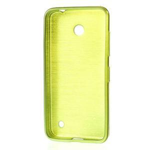 Gelové Kartáčové pouzdro na Nokia Lumia 630- zelené - 3