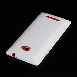 Gelové S-line pouzdro pro HTC Windows phone 8X- bílé - 3