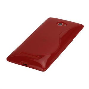 Gelové S-line pouzdro pro HTC Windows phone 8X- červené - 3