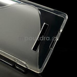 Gelové S-line pouzdro pro HTC Windows phone 8X- transparentní - 3