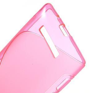 Gelové S-line pouzdro pro HTC Windows phone 8X- růžové - 3