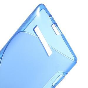 Gelové S-line pouzdro pro HTC Windows phone 8X- modré - 3