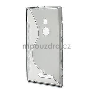 Gelové S-liné pouzdro pro Nokia Lumia 925- šedé - 3