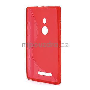 Gelové S-liné pouzdro pro Nokia Lumia 925- červené - 3