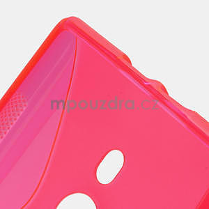 Gelové S-liné pouzdro pro Nokia Lumia 925- růžové - 3
