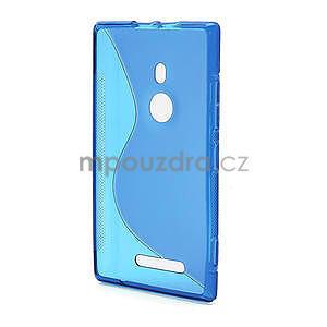 Gelové S-liné pouzdro pro Nokia Lumia 925- modré - 3
