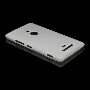 Gelové matné pouzdro pro Nokia Lumia 925- bílé - 3