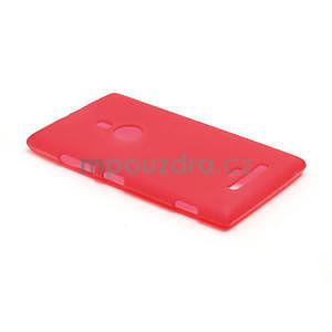Gelové matné pouzdro pro Nokia Lumia 925- červené - 3
