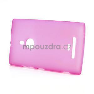 Gelové matné pouzdro pro Nokia Lumia 925- růžové - 3