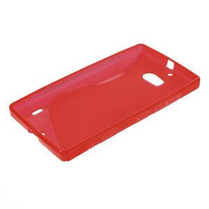 Gelové S-line pouzdro na Nokia Lumia 930- červené - 3