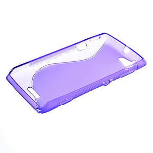 Gelové S-line pouzdro na Sony Xperia L C2105- fialové - 3