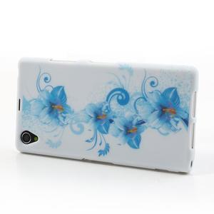 Gelové pouzdro na Sony Xperia Z1 C6903 L39- modrá lilie - 3