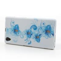 Gelové pouzdro na Sony Xperia Z1 C6903 L39- modrá lilie - 3/7