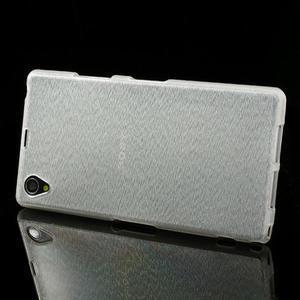 Kartáčované pouzdro na Sony Xperia Z1 C6903 L39- bílé - 3