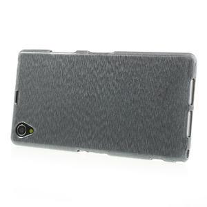 Kartáčované pouzdro na Sony Xperia Z1 C6903 L39- šedé - 3