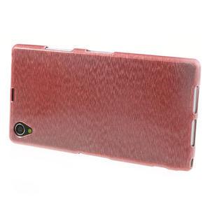 Kartáčované pouzdro na Sony Xperia Z1 C6903 L39- světlerůžové - 3