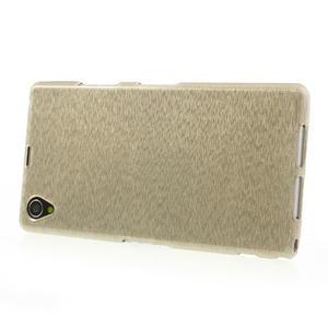 Kartáčované pouzdro na Sony Xperia Z1 C6903 L39- zlaté - 3