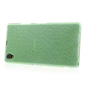 Kartáčované pouzdro na Sony Xperia Z1 C6903 L39- zelenmodré - 3