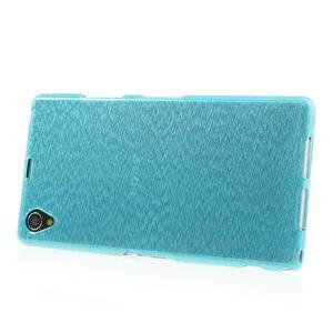 Kartáčované pouzdro na Sony Xperia Z1 C6903 L39- modré - 3
