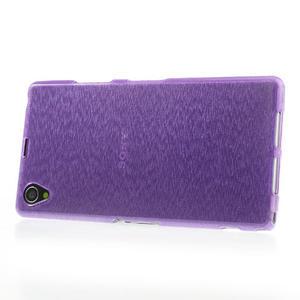 Kartáčované pouzdro na Sony Xperia Z1 C6903 L39- fialové - 3