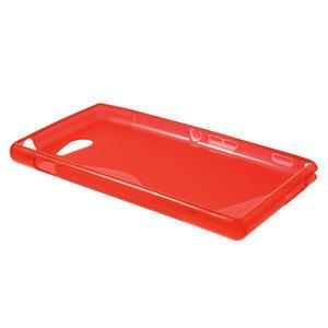 Gelové S-line pouzdro na Sony Xperia M2 D2302- červené - 3