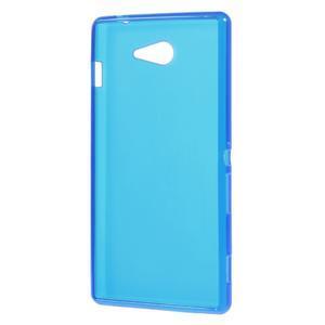 Gelové tenké pouzdro na Sony Xperia M2 D2302 - modré - 3