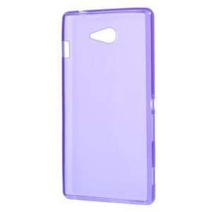 Gelové tenké pouzdro na Sony Xperia M2 D2302 - fialové - 3