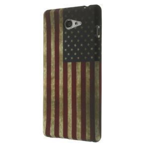 Gelové pouzdro na Sony Xperia M2 D2302 - USA vlajka - 3