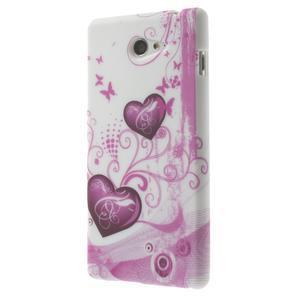 Gelové pouzdro na Sony Xperia M2 D2302 - dvě srdce - 3