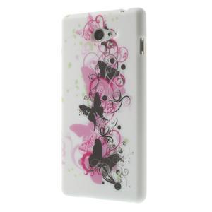 Gelové pouzdro na Sony Xperia M2 D2302 - motýlí květ - 3