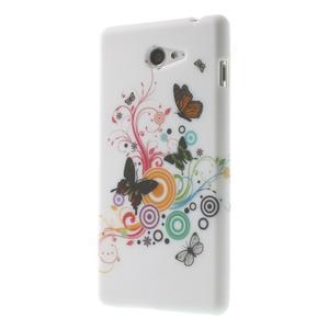 Gelové pouzdro na Sony Xperia M2 D2302 - barevní motýlci - 3