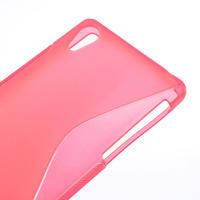 Gelové S-line pouzdro na Sony Xperia Z2 D6503- růžové - 3/4