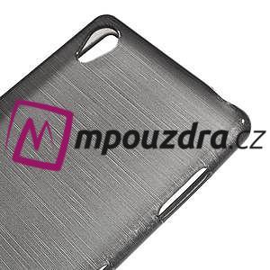 Gelové kartáčové pouzdro na Sony Xperia Z3 D6603 - šedé - 3