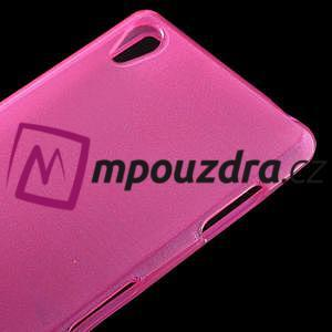 Gelové kartáčové pouzdro na Sony Xperia Z3 D6603 - růžové - 3