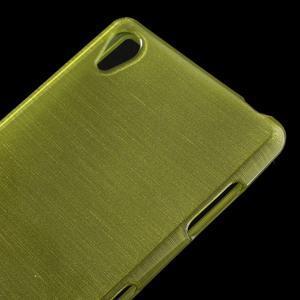 Gelové kartáčové pouzdro na Sony Xperia Z3 D6603 - zelené - 3