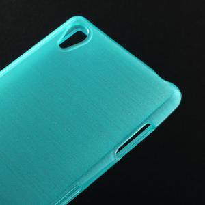 Gelové kartáčové pouzdro na Sony Xperia Z3 D6603 - modré - 3
