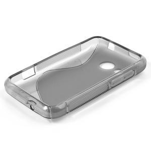 Gelové S-line pouzdro pro HTC Desire 200- šedé - 3