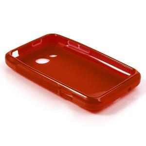 Gelové S-line pouzdro pro HTC Desire 200- červené - 3