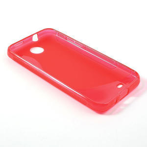Gelové S-line pouzdro pro HTC Desire 300 Zara mini- červené - 3