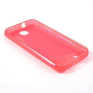Gelové S-line pouzdro pro HTC Desire 300 Zara mini- růžové - 3