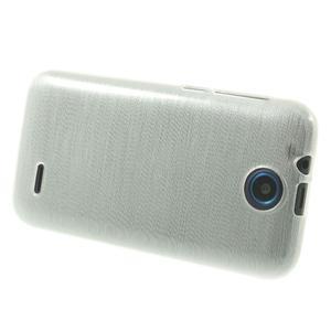 Gelové kartáčované pouzdro na HTC Desire 310- bílé - 3