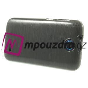 Gelové kartáčované pouzdro na HTC Desire 310- šedé - 3