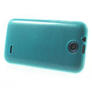 Gelové kartáčované pouzdro na HTC Desire 310- modré - 3