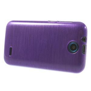 Gelové kartáčované pouzdro na HTC Desire 310- fialové - 3