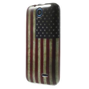 Gelové pouzdro na HTC Desire 310- USA vlajka - 3