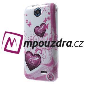 Gelové pouzdro na HTC Desire 310- dvě srdce - 3