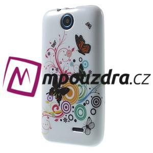 Gelové pouzdro na HTC Desire 310- barevné motýlci - 3